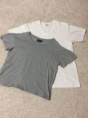 515.メンズ半袖Tシャツ2枚☆白LL  グレー3 L