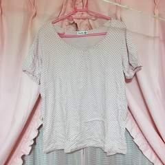ドット柄Tシャツ3L
