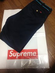 2012F/W supreme chino work pants 紺色 ネイビー
