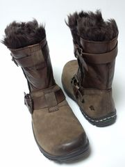 未使用カルソーアースシューズエンジニアブーツクロワッサンヨガモコモコ異素材北欧美脚
