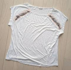 GU★ビジュー付きTシャツ★XL★LL★新品★大きいサイズ