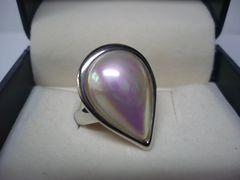 タサキ真珠 超美品  マベパール ダイヤ入り リング