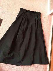 zara フレアーロングスカート ブラック