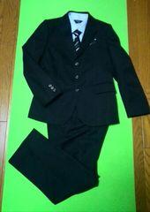 サイズ150お得Yシャツ2枚!スーツ・タイ・チーフセット