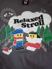 LEGO/レゴレゴ柄のTシャツ・グレー《XS》送料250円