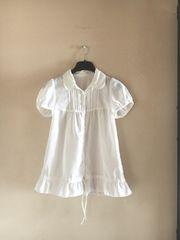 【美品】K@◆ホワイト◆裾絞り付フリルブラウス&チュニック
