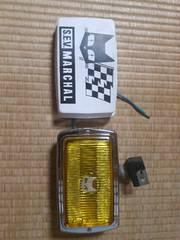 カバー付き!!マーシャルフォグランプ850GT 黄色レンズメッキボディー 当時物