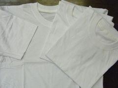 新品メンズ白Tシャツ3枚組L