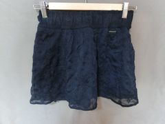 USA購入 Abercrombie&Fitch レース&フリルミニスカートUS XS 紺