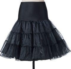 新品【7455】黒レースパニエ/ペチコート/アンダースカート