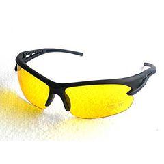 今回のみ490円★人気スポーツサングラス UV400 イエロー