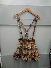 LIZ LISA☆チェック柄サスペンダースカート