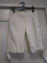 組曲M KUMIKYOKU ホワイトハーフパンツ リボン付き白 ショート