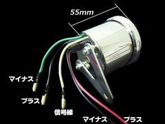 電気式 タコメーター 60mm LED/4サイクル ゴリラ バイク 汎用