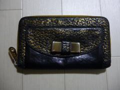 Chloe クロエ リリィ リボンのラウンドファスナーの長財布