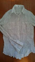 シワ加工 シャツ シャツジャケットにも  美品 L