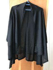 OZOC オゾック 七分袖トッパー変形カーディガン ブラック