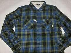 USA購入アメカジ【VANS】チェック柄 薄手ネルシャツUS L 紺x緑系