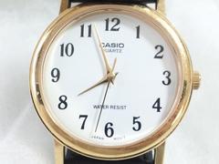 5607/CASIOカシオ★ラウンドクォーツモデルゴールドケースメンズ腕時計格安