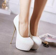 パンプス 靴 キャバ 美脚 ピンヒール キラキラ 52804