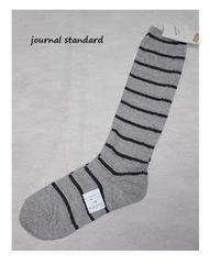 ジャーナルスタンダード*journal standard★コットンリブボーダーソックス/新品