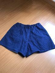 GU 紺色 レース パンツ120