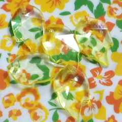 【未使用】アクリル葉っぱビーズ(黄色)