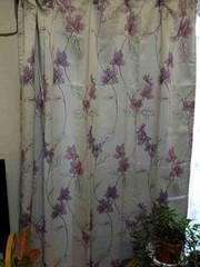花柄遮光カーテン 新品