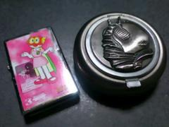 パーマン3号(パー子)オイルライター&V3携帯灰皿