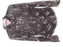 500スタ新品日本製ナイスクラップ\15800花柄エンボス ベロアシャツ美人百花