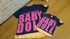 親子お揃い☆ペアルック Baby doll Mサイズ&80