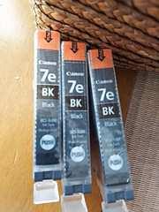 未使用♪Canon☆インク BCI-7eBK ブラック3個セット
