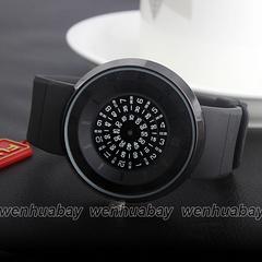 ■送料込■新品♪Paiduターンテーブルデザイン腕時計★ブラック