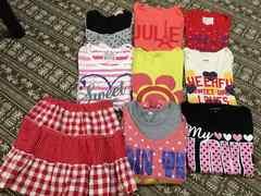 夏物 半袖Tシャツ、スカート9点まとめ売り 120
