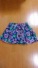 バルーン薔薇・花柄スカート