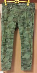 大きいサイズGAP 迷彩パンツ グリーン ウエスト79