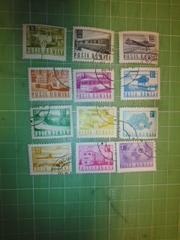 ルーマニア乗り物切手12種類♪