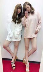 即完売★DaTuRa ダチュラ★サイドスリットカジュアルフーディー ピンク/F 新品タグ付