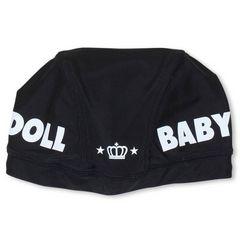 新品BABYDOLL☆ロゴ スイムキャップ 黒 水泳帽 ベビードール