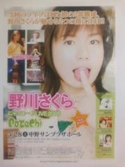 野川さくら 2005年ライブ PoTeChi チラシ 非売品