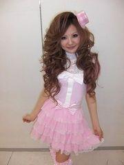 ラパフェ*姫系メイドセットアップ*トップス&スカート ピンク
