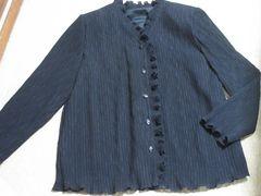 フリル*模様入り*長袖ジャケット(ブラック)
