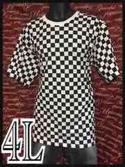 4L・ブロックチェック総柄Tシャツ新品/MCU-804
