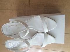 新品 未使用 R&E サンダル ホワイト 24.5cm