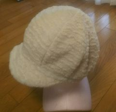 未使用★モコモコ帽子★61cm