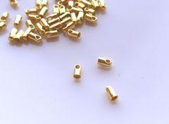 カツラ/コードエンド20個B(内径1.5�o)ゴールド
