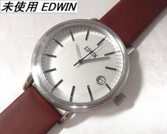 本物確実正規未使用エドウィンEDWINメンズ腕時計シルバー文字盤 rmh