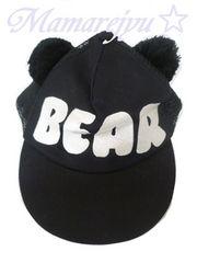 新品☆one spo(ワンスポ)♪ポンポン耳付キャップ帽*BEAR刺繍