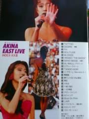 VHS『AKINA EAST LIVE』中森明菜 1989