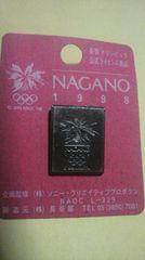 1998 名古オリンピック 公式ライセンス商品ピンバッチ 未使用